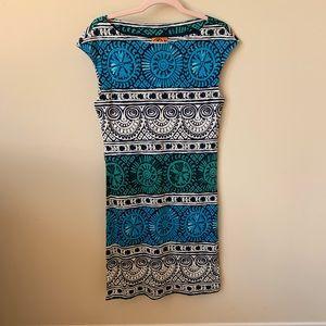Tory Burch silk geometric print dress #134